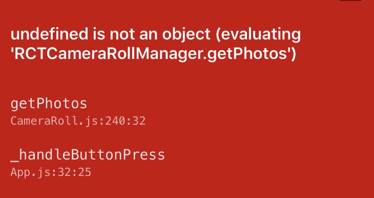 【ReactNative】ReactNative.CameraRollライブラリのリンクを自動でする方法